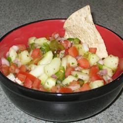 salsa de pepino con limon